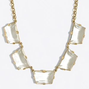 JCREW Factory Crystal Trapezoid Necklace